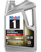 Mobil 1 5W-30 Extended Performance High-Mileage Formula Motor Oil
