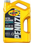 Pennzoil Ultra Platinum Full Synthetic Motor Oil 5W-20